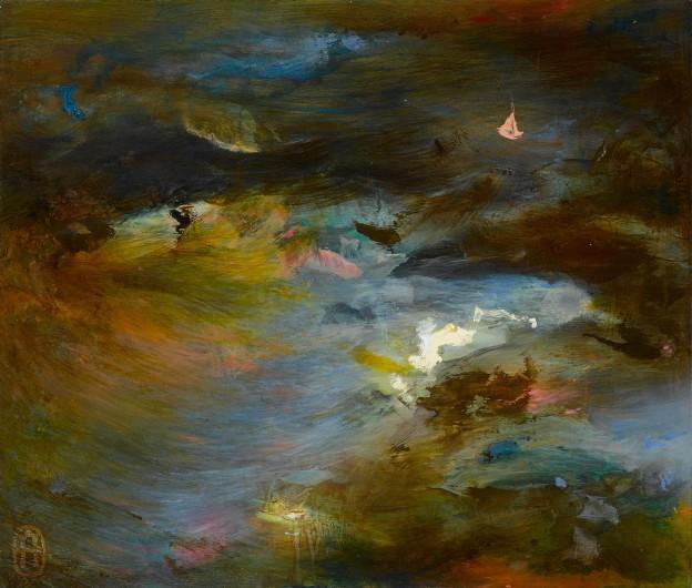 Seascape. Oil on Panel. Helen Garrett.