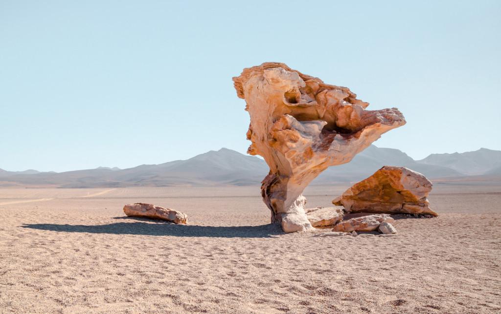 Salar de Uyuni, Bolivia: Stone Tree in the desert