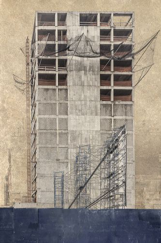 "©Marc Yankus, ""Building under construction ,"" 2013, Archival pigment print, Courtesy of the artist and ClampArt, NYC."