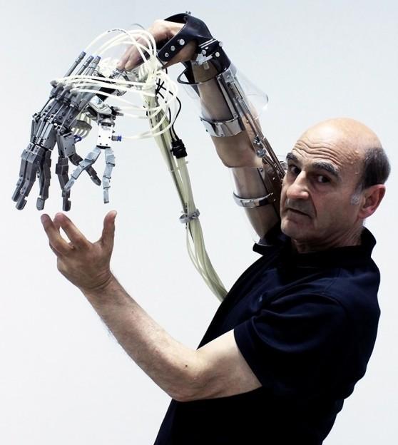 Extended Arm Scott Livesey Galleries, Melbourne 2011 Photographer- Dean Winter Stelarc