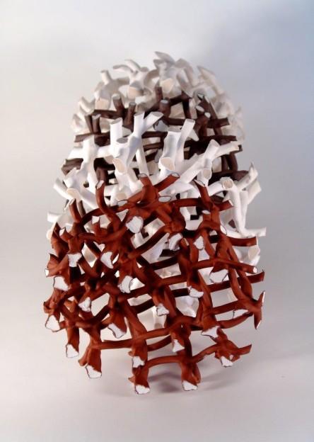 Hans Borgonjon: Microtubuli X 4 (porcelain and rew)