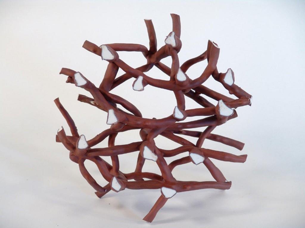 17. Microtubule, 23cm dia, porcelain and rew