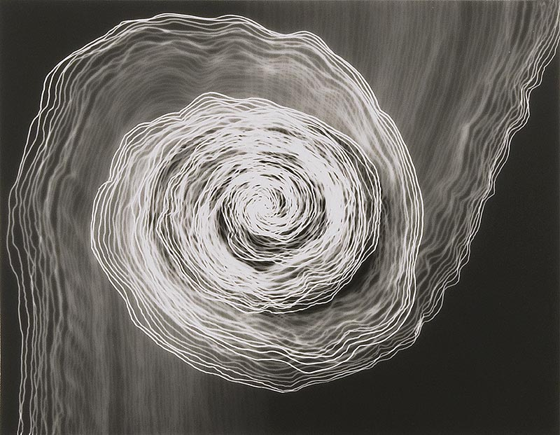 Untitled Photogram (Small Double Spiral/Clockwise), 2009