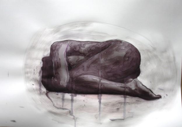Chantal Pollier Battle III ink on paper 2010
