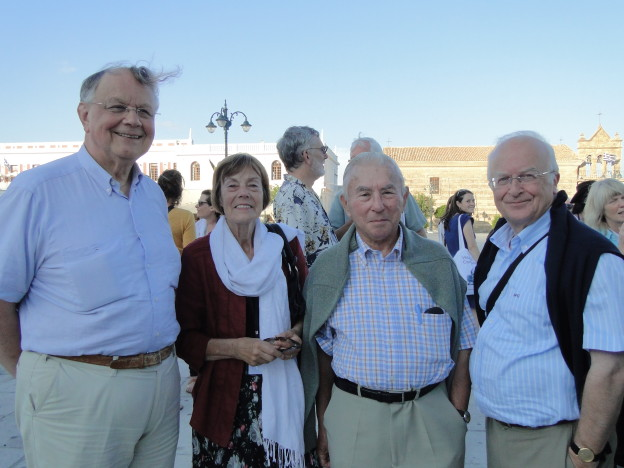 From left to right: Theodoor Goddeeris, Jacqueline Vons, Omer Steeno and Maurits Biesbrouck, on Zakynthos in September 2014