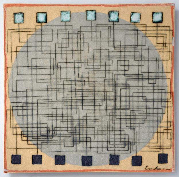Clare Crouchman: Connectivity 43 x 43 cm