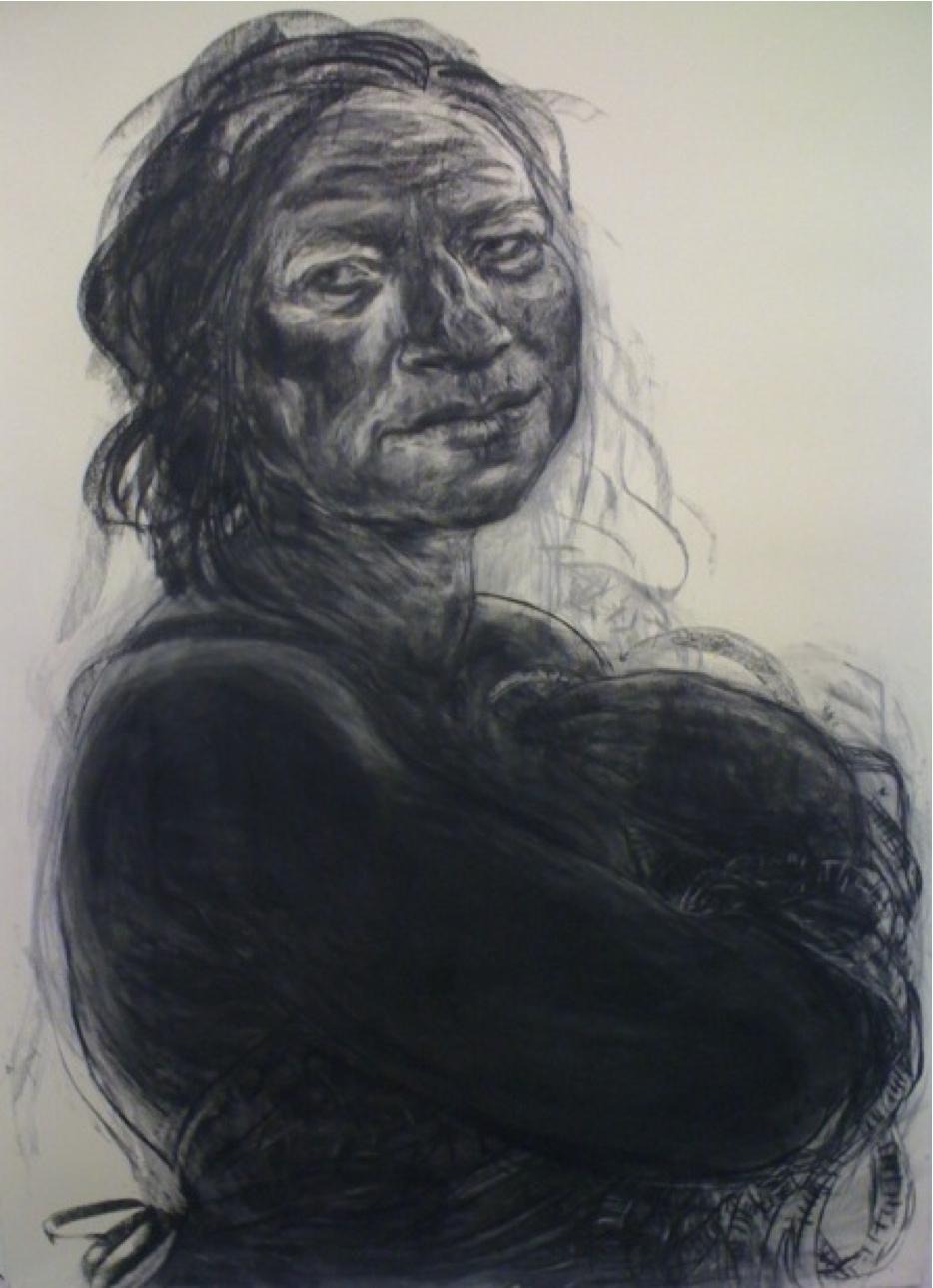 3) Anita Taylor, Vestiges, charcoal on paper, 220 x 155cm, 2012 - Interalia  MagazineInteralia Magazine