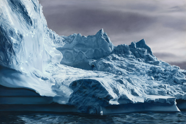 "Greenland No 63, 50""x75"", Soft Pastel on Paper, 2013. Image courtesy of Zaria Forman."