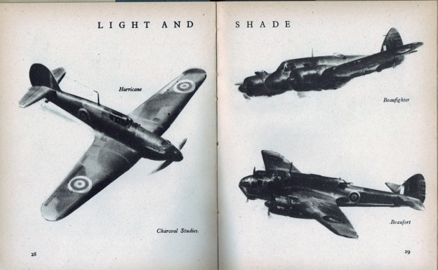 Fig 4. Frank A. Wootton, 1941, 'How to Draw Planes', The Studio (this edition 1942), pp. 28, 29.