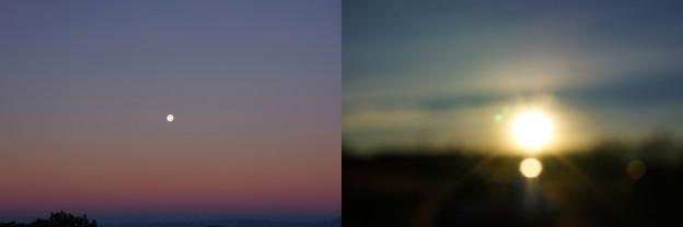 Moon Set Sunrise. © Eve Andrée Laramée