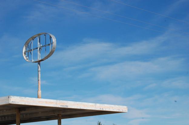 Mojave desert roadside sign. © Eve Andrée Laramée