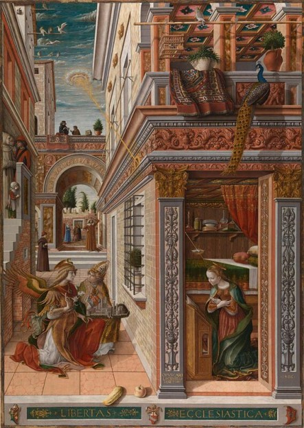 Fig.5 - Carlo Crivelli: 'Annunciation with Saint Emidius' (National Gallery, London)