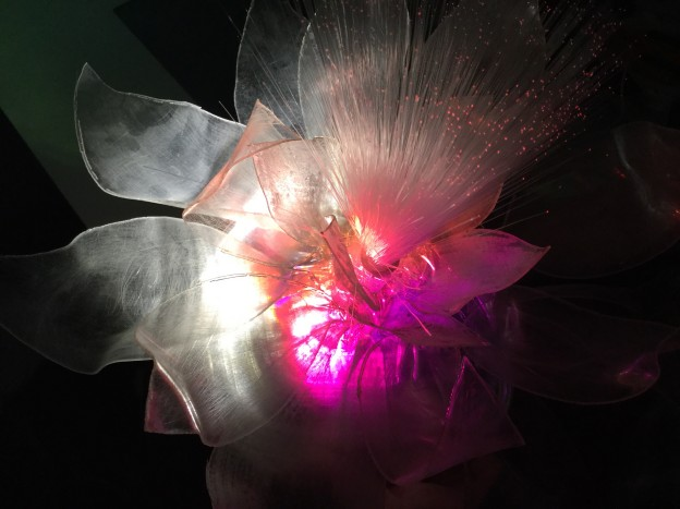 An example of Biomimicry, this is a prototype of giant interactive Lotus flowers for The Amsterdam Light Festival 2016. The lotus has hydrophobic leaves so that neither water nor dirt stay on the leaf and as result both engineers and microbiologists are mirroring its properties, from virus resistance to nanomaterials.