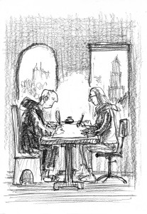 Albo Helm: Utrechts Psalter 2016 AD (cover sketch 1)