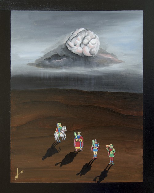 Journey Of and From the Mind (2015), Oil on canvas (40.6 x 50.8cm), Private Collection