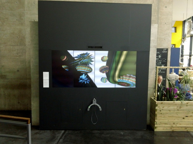 States of Mind at FACT in Liverpool, Tilo screen exhibition display and 3D printed workshop