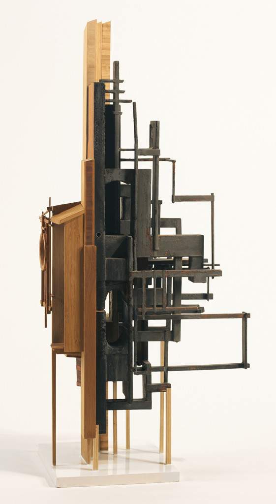 Megan McGlynn: EXAPTATION burnt mahogany, bamboo, cedar, copper, brass 36 x 18 x 10 in.