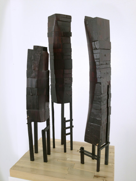 Megan McGlynn: MIRROR NEURONS rosewood, ebony, holly, brass, copper 18 x 11 x 9 in.