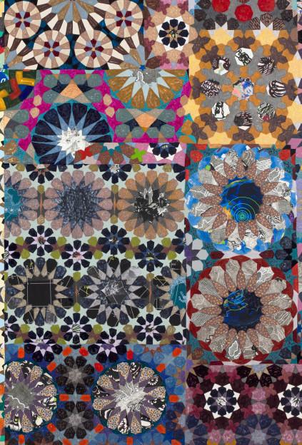 Joyce Kozloff: If I Were an Astronomer (Mediterranean), 2014, Mixed media on canvas. 72 x 54 inches (detail)
