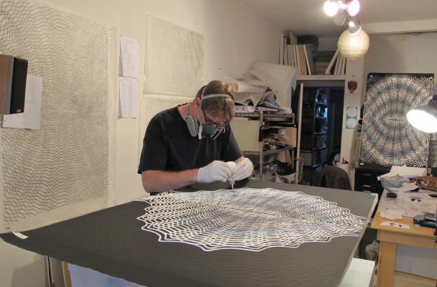 Daniel Hill - making Untitled 37, 2012