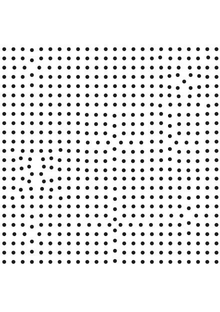 Infinitesimal (Vibrant Crystal Pulsing Atom) self adhesive vinyl wall drawing 250 cm x 250 cms 2007