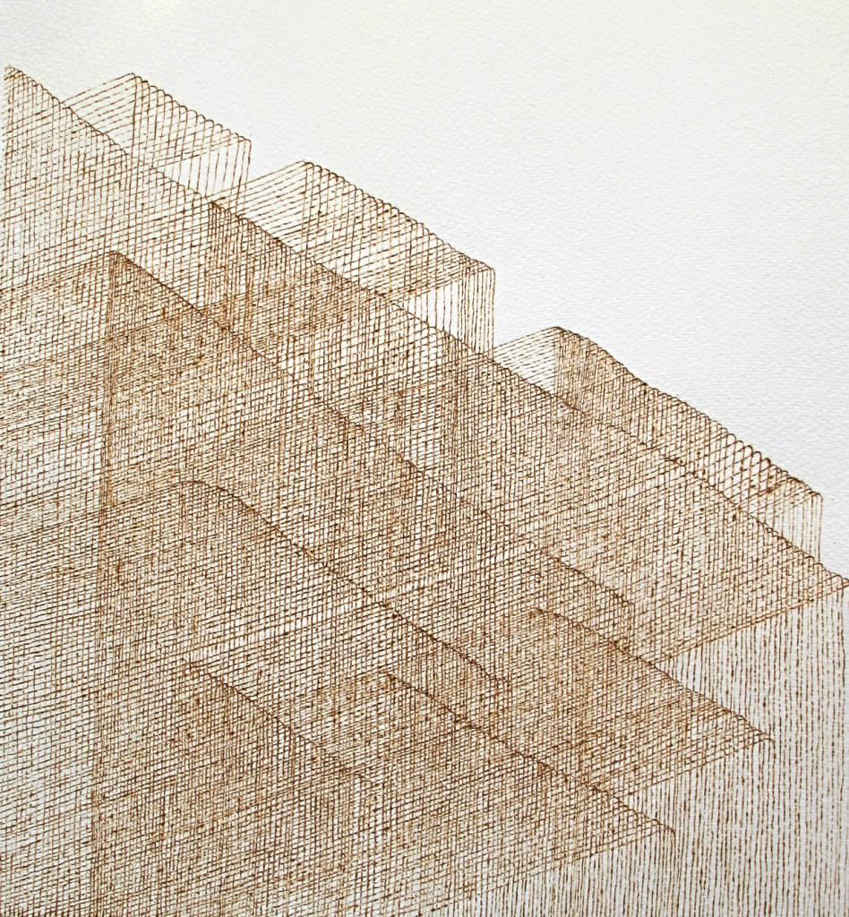 10 Jerwood Drawing Prize shortlisted 2015, 'Burning Light IV' The
