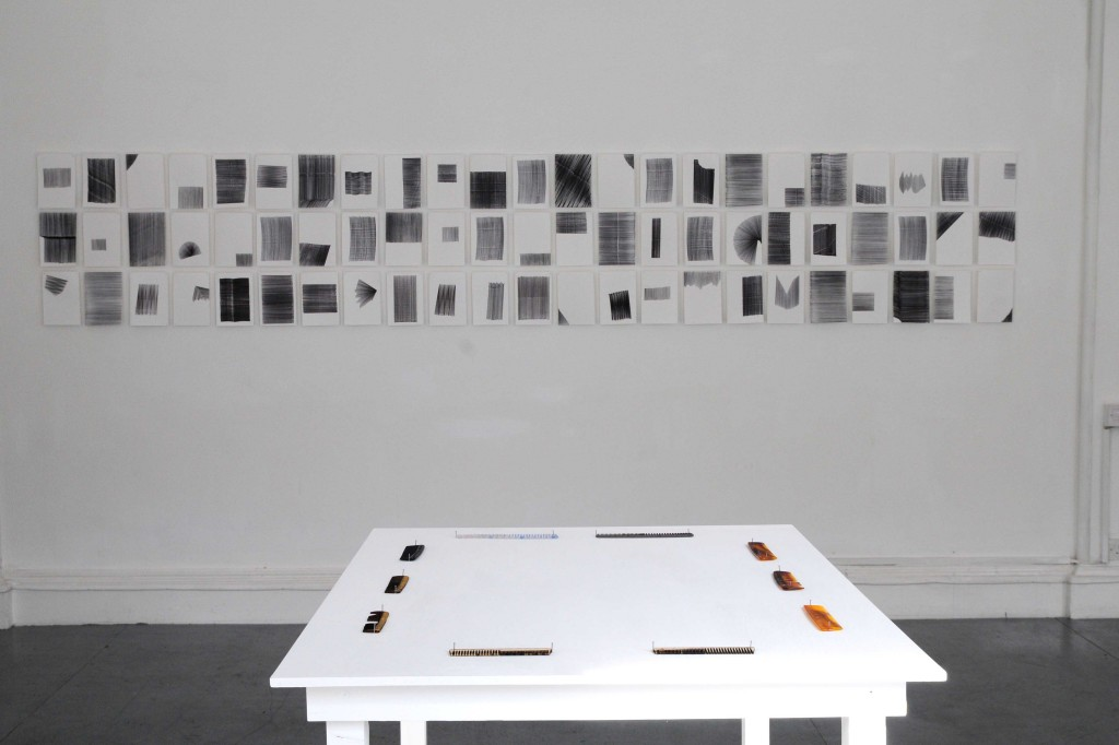 Steven Maybury: Jigsaws, Combs and Rulers - Solo exhibition, Eight Gallery 2014.