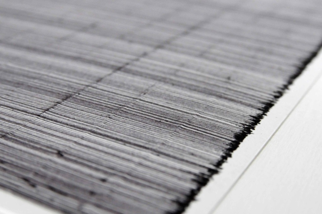 Steven Maybury: Jigsaws, Combs and Rulers – 1496pc jigsaw drawing - pen on paper 81cm, x 61cm- Eight Gallery 2014.