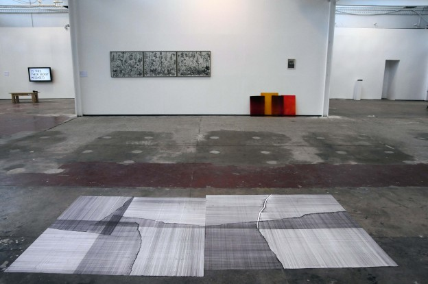 Steven Maybury: TULCA Arts festival Galway, 2014 - Untitled drawing- pen on paper, 300cm x 150cm, 2014. (Invited artist and commissioned work). Curated by Aisling Prior.