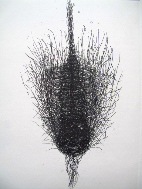 Julia Hutton: Unravelling, limited edition etching, 15 x 20 cm