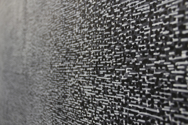 Transition (detail), marker and acrylic paint on layout paper, 119 x 147 cm  © Anthony Lyttle 2013