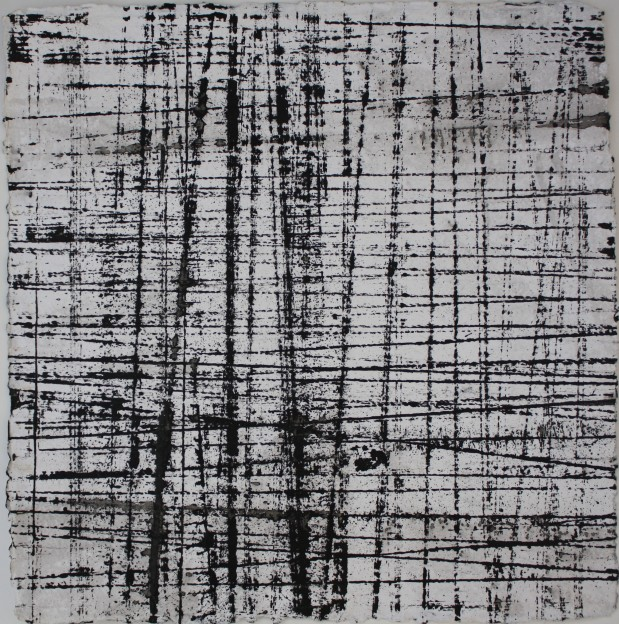 Fiona Robinson: John Cage String Drawing 1 of 15. Ink 30 x 30 cms
