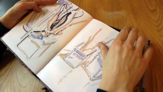Naomi Shaw student sketchbook