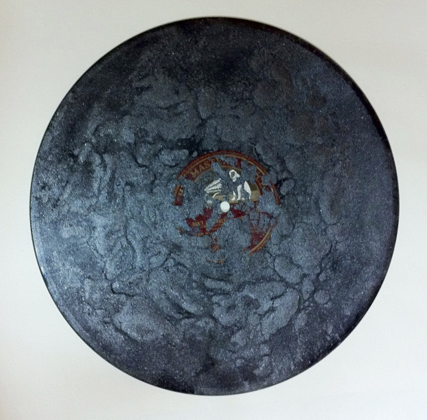 Naomi Kashiwagi: Record Drawing, Graphite, shellac record