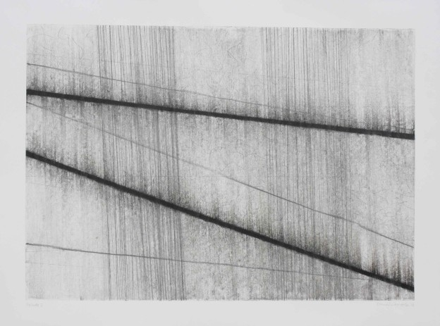 Fiona Robinson Prelude 2, from J.S. Bach Suite no.1 for Unaccompanied Cello. Graphite charcoal and mixed media. 60 x 83 cms