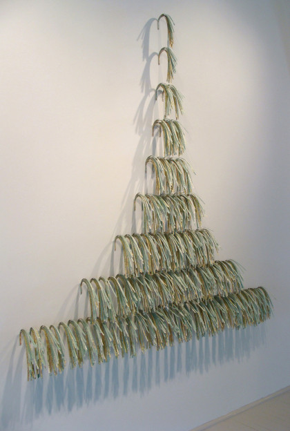 Falls, map, adhesive, pins, 6' x 7' (dimensions variable), 2010