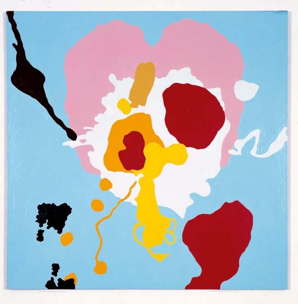 Lup Bup Zhir Pow, 61 cm x 61 cm, enamel paint on aluminum, 1994