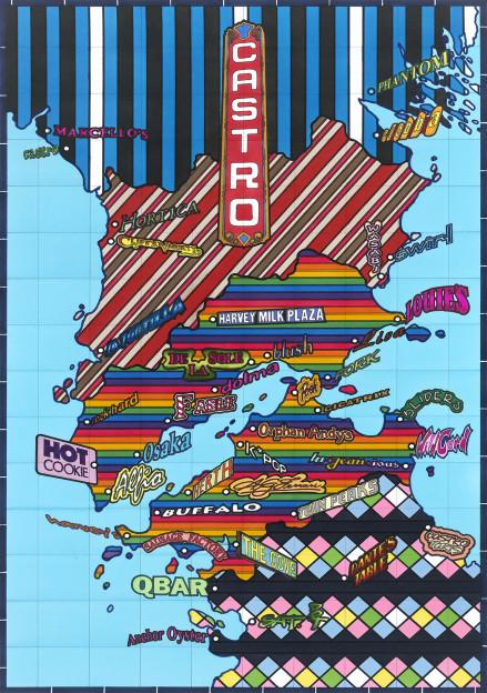 "Castro - The Strangerhood Series, 32"" x 21"", Ink on paper, 2013"