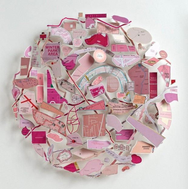 Pink Map Circle 2015
