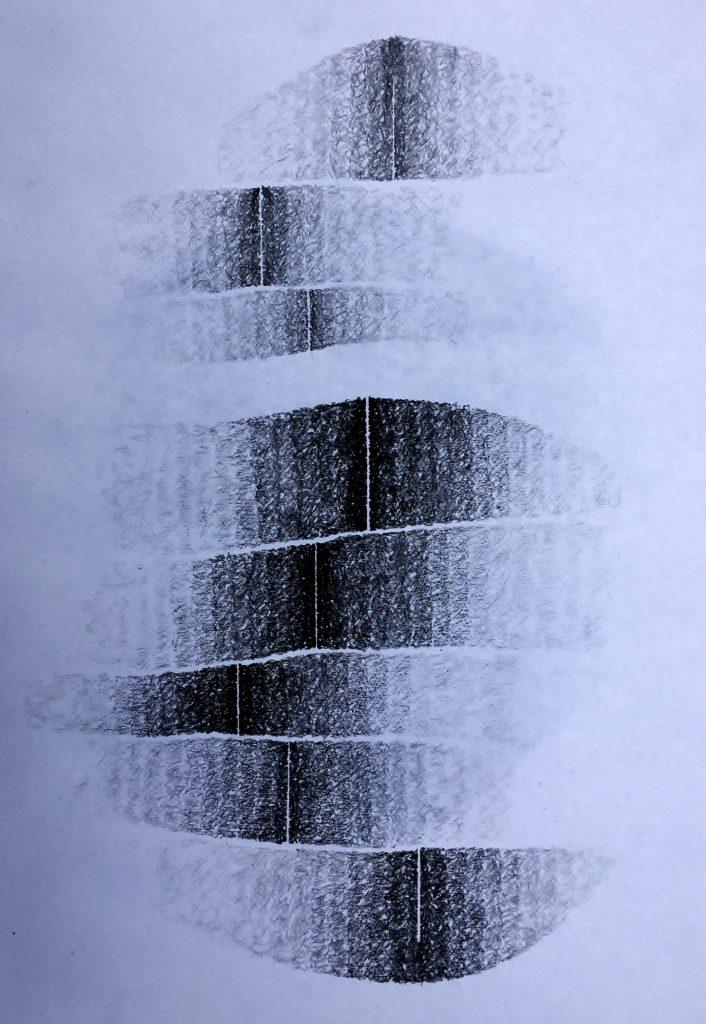 Shift #5, 2017, graphite, 35 x 25cms
