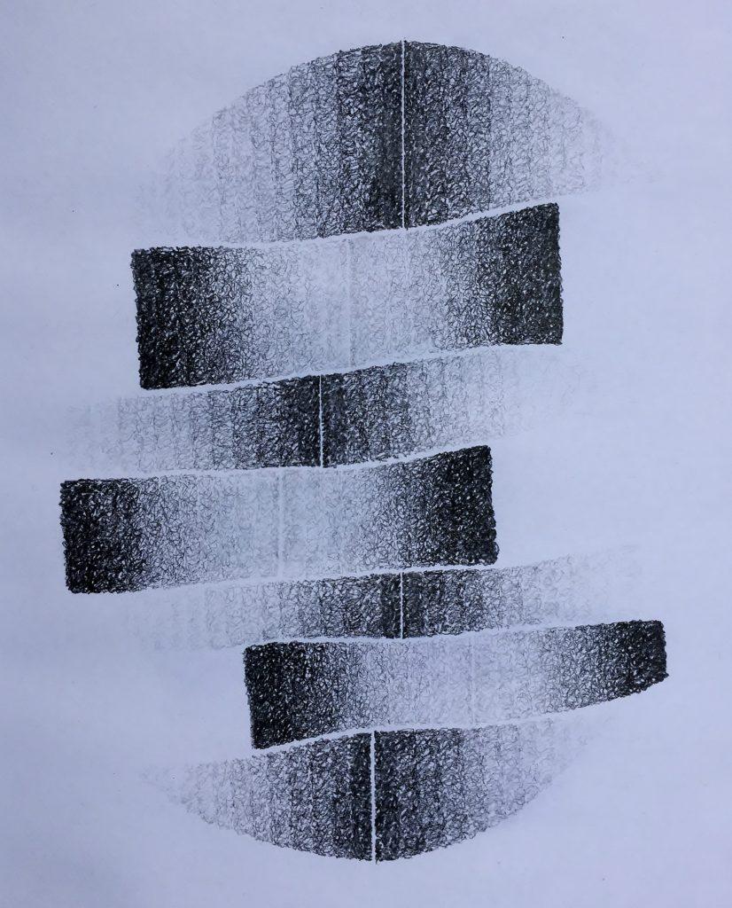Shift #9, 2017, graphite, 35 x 25cms