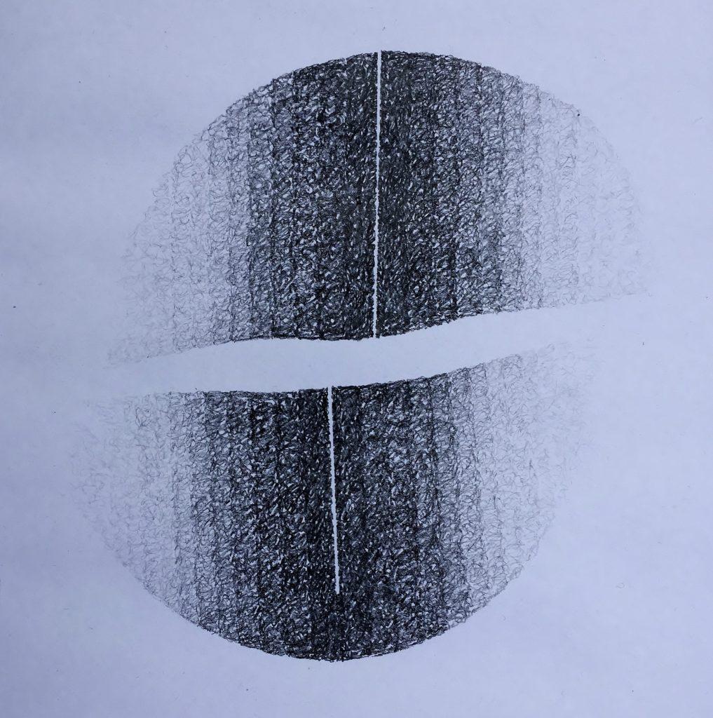 Shift # 12, 2017, graphite, 30 x 30cms