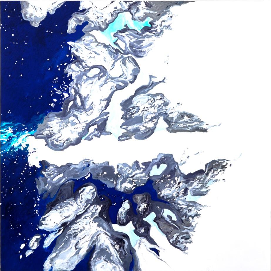 """Data: Ilulissat I 50""""x 50"""" Oil on Canvas 2016"""