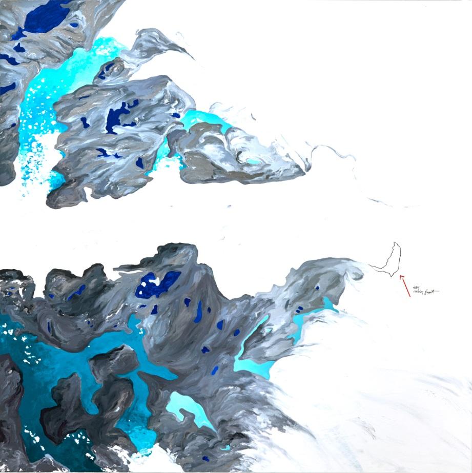 """Data: Ilulissat II 50""""x 50"""" Oil on Canvas 2016"""