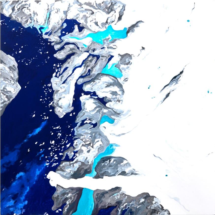 """Data: Ilulissat IV 50""""x 50"""" Oil on Canvas 2016"""