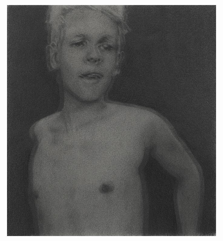 Ryan's Reflection (2017). Graphite on paper 16.5 x 18 cm